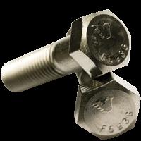 """5/16""""-18x4 1/2"""",(Partial Thread) UNC HEX CAP SCREWS COARSE STAINLESS 316 (Pkg Qty: 50pcs  )"""
