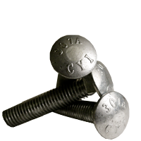 """1/2""""-13x10"""",6"""" THD UNDER-SIZED CARRIAGE BOLTS A307 GRADE A COARSE HDG (Pkg Qty: 25pcs  )"""