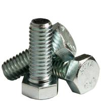 "3/8""-16x5/8"",(Full Thread) HEX BOLTS A307 GRADE A COARSE ZINC CR+3 (Bulk Qty: 1200pcs  )"