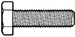 """7/8""""-9x5"""",(Full Thread) HEX TAP BOLT A307 GRADE A COARSE LOW CARBON ZINC CR+3 (Pkg Qty: 10pcs  )"""
