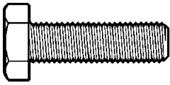 """3/4""""-10x1"""",(Full Thread) HEX TAP BOLT A307 GRADE A COARSE LOW CARBON ZINC CR+3 (Bulk Qty: 250pcs  )"""