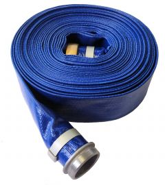 1-1/2 x 50FT Blue Discharge Hose NPSH Threaded  MF