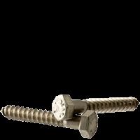 "5/16""-9x2"" HEX LAG SCREWS STAINLESS STEEL  (18-8) (Pkg Qty: 100pcs  )"