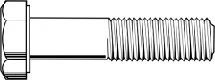 """1 1/2""""-12x4 1/2"""",(Full Thread) HEX CAP SCREWS GRADE 5 FINE MED. CARBON PLAIN (Bulk Qty: 10pcs  )"""