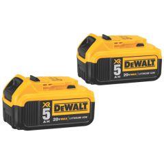DEWALT 20V MAX* 5 ah Battery Double Pack