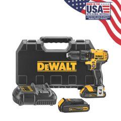 DEWALT 20V MAX Li-Ion Compact Drill/Driver Kit (1.5 Ah)