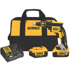 DEWALT 20V MAX* XR Li-Ion Brushless Drywall Screwgun Kit (4.0ah)