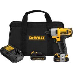 """DEWALT 12V MAX* Lithium Ion 1/4"""" Impact Driver Kit"""