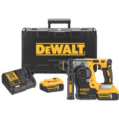 """DEWALT 20v MAX* Brushless 1"""" SDS Rotary Hammer w/5ah Battery"""