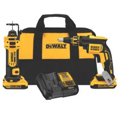 DEWALT 20V MAX* XR Li-Ion Cordless Drywall Screwgun & Cut-out Tool Kit (2.0Ah)