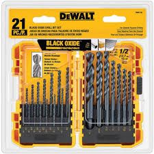 DEWALT 20pc Black Oxide Metal Drilling Set 1/pk