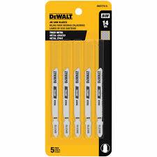 """DEWALT 3"""" 24 TPI T-SHK COBALT STEEL JS BLD-5PK"""