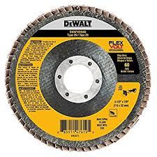"DEWALT DWT FV Flap Disc 4-1/2"" x 7/8"" 60G 10/bx"