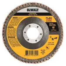 "DEWALT DWT FV Flap Disc 4-1/2"" x 7/8"" 80G 10/bx"