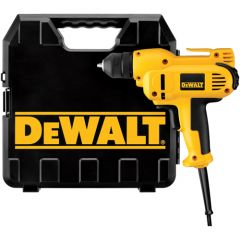 "DEWALT 3/8"" VSR MID-HANDLE GRIP DRILL KIT w/ KEYLESS ALL-METAL CHUCK 8.0 AMP"