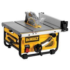 "DEWALT  10"" COMPACT JOB SITE TABLE SAW 24 1/2"" rip capacity"