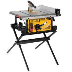 """DEWALT 10"""" Job Site Table saw with Scissor Stand"""