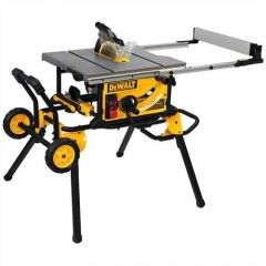 "DEWALT 10"" WHEELED JOB SITE TABLE SAW with wheeled mobility, 32 1/2"" rip capacity"