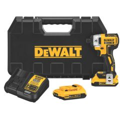 "DeWALT 20V MAX* XR Li-Ion Brushless 1/4"" Impact Driver Kit 1/EA"