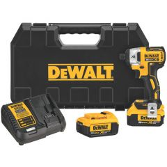 "DeWALT 20V MAX* XR Li-Ion Brushless 1/4"" Impact Driver Kit 1/EA"