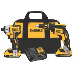 DeWALT 20V MAX* XR Drywall Screwgun & Impact Driver Kit  1/EA