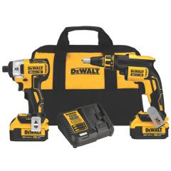 DeWALT 20V MAX* XR Drywall Screwgun&Impact Driver 4.0Ah Kit 1/EA