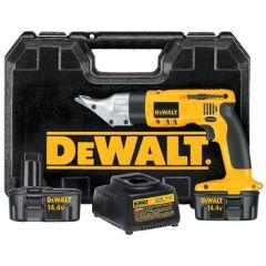 DeWALT 14.4V Cordless 18 Gauge Swivel Head & Shear Kit 1/EA