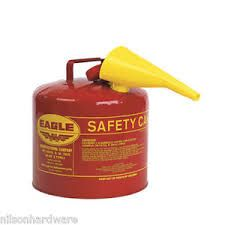5 Gallon Gas Can W/Funnel Red Type 1