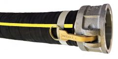 "6"" x 50ft Cam Lock C&E 2-PLY Rubber Discharge Hose 1/EA"