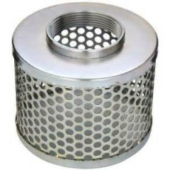 "6"" NPSM Round Hole Stainless Steel Suction Strainer 1/EA"