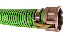 """1-1/2""""x20ft Cam Lock C&E Green Weatherflex Suction Hose 1/EA"""