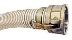 """1-1/2"""" x 20ft Cam Lock C&E Low Temp PVC Suction Hose 1/EA"""