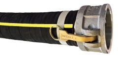 "1-1/2""x20ft Cam Lock C&E HD Rubber Water Suction Hose 1/EA"
