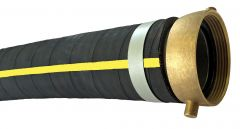 "1-1/2""x20ft Male & Female NPSH HD Rubber Water Suction Hose 1/EA"