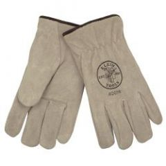 Klein Suede Cowhide Drivers Gloves Lined, L