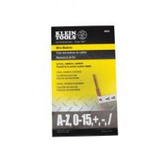 Klein Wire Markers-Black Letters, Numbers and Symbols
