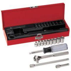 """Klein 1/4"""" Drive Socket Wrench Set, 13 Pc"""