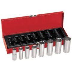 """Klein 3/8"""" Drive Deep Socket Wrench Set, 8 Pc"""