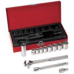 """Klein 3/8"""" Drive Socket Wrench Set, 12 Pc"""