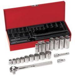 """Klein 3/8"""" Drive Socket Wrench Set, 20 Pc"""