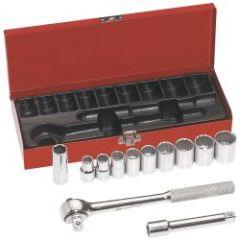 """Klein 1/2"""" Drive Socket Wrench Set, 12 Pc"""