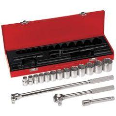 """Klein 1/2"""" Drive Socket Wrench Set, 16 Pc"""