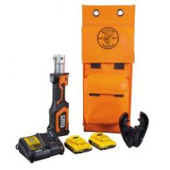 Klein Battery-Operated Cable Crimper, BG and Die Groove