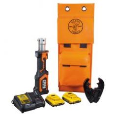 Klein Battery-Operated 7-Ton Cable Crimper Kit