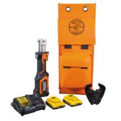Klein Battery-Operated Cable Crimper, D3 Groove Jaw