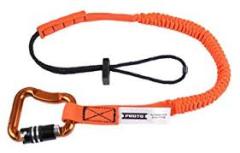 Proto® Elastic Lanyard With Triple Lock Carabiner - 15 lb. 10/BX
