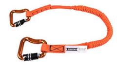 Proto® Elastic Lanyard With 2 Triple Lock Carabiners - 20 lb. 10/BX