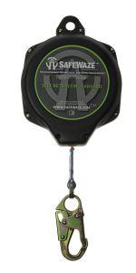 SAFEWAZE 50' Web Retractable with Double Locking Snap Hook