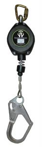 SAFEWAZE 11' Cable Retractable with Double Locking Rebar Hook