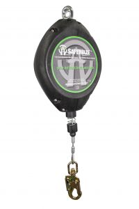SAFEWAZE 65' Cable Retractable with Swivel Fall Indicator Hook